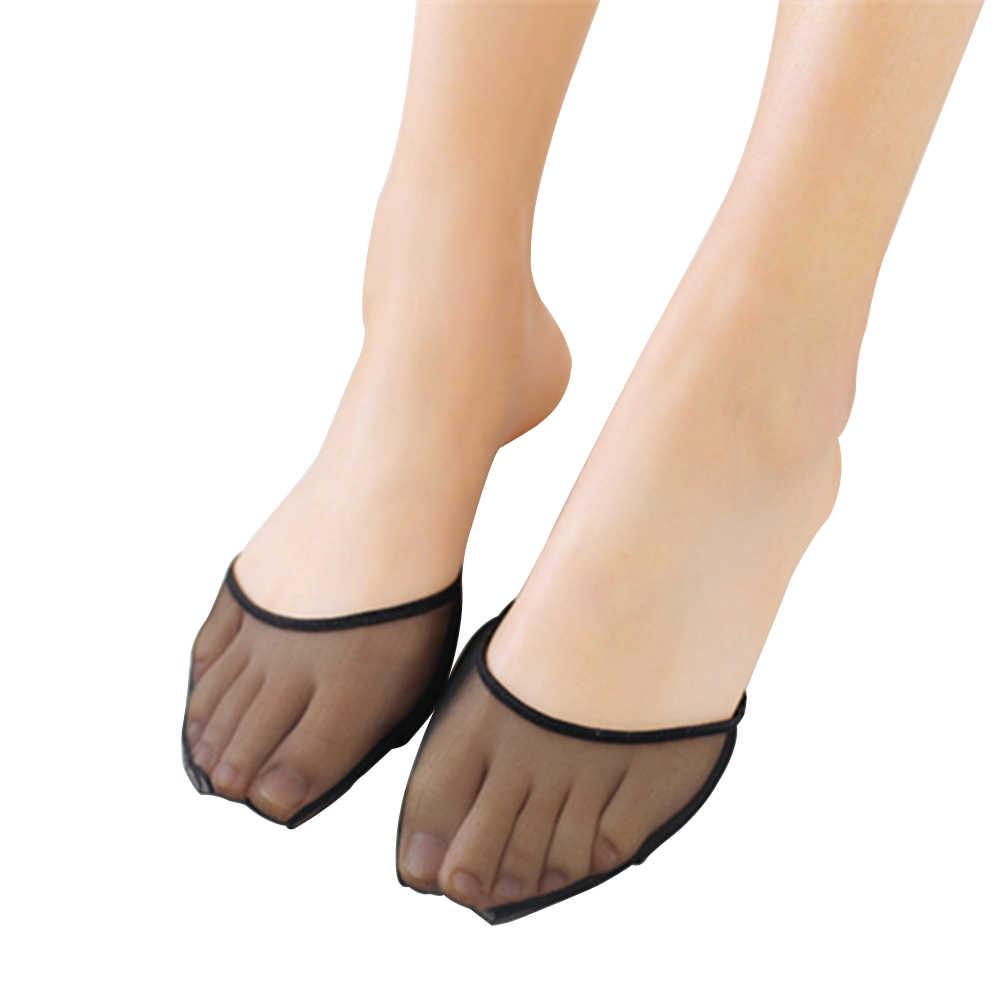 נשים כאב הקלה ללא עקבי שימושי הבוהן רפידות חסר אצבעות Peds קיץ קדמת כף הרגל רגל טיפול גרבי עמיד בפני החלקה בלתי נראה אניה חצי חצר
