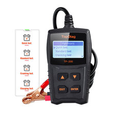 TopDiag Car Battery Tester Cranking System Diagnostic Tool Alternator LCD Screen Charging Test Analyzer