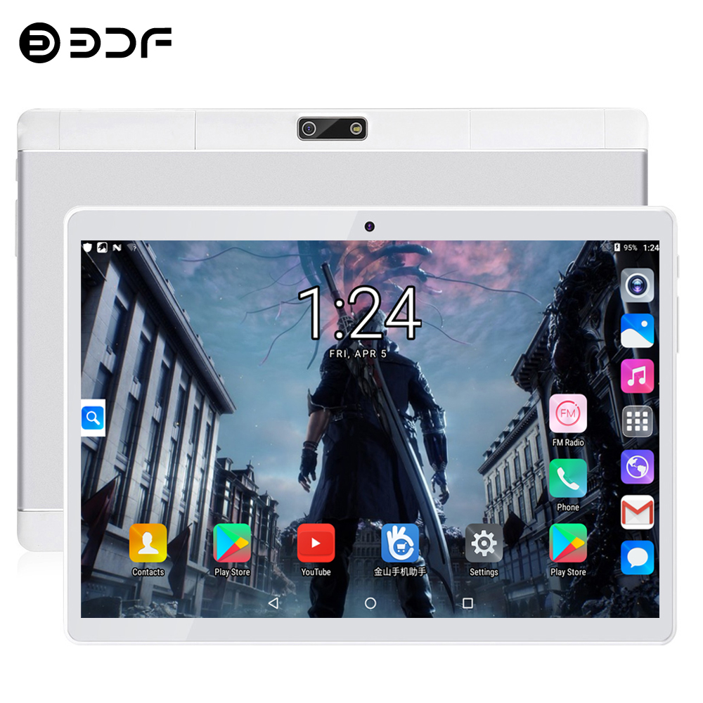 BDF 10 Inch Tablet Quad Core 1280*800 IPS Android 7.0 Tablets Pc Bluetooth Dual SIM Cards 3G Call Tablet 1GB/32GB Pc Tablet 10.1