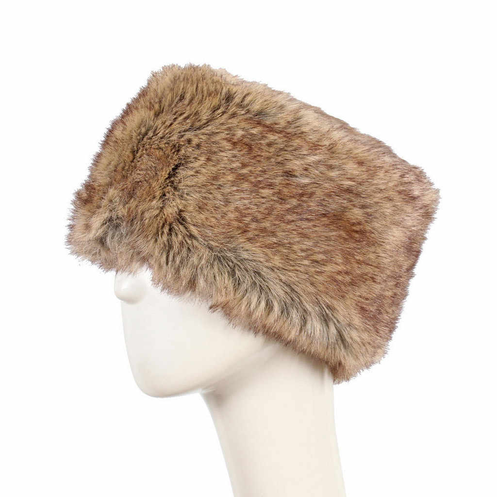 Fashion Wanita Rajutan Topi Soild Warna Topi Musim Dingin Tetap Hangat Skullies Faux Bulu Tutup Kepala Beanies Tetap Hangat Salju Hat Cap dengan Bulu