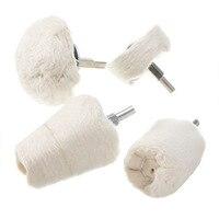6mm Schaft Weiß Griff Rad Pinsel Schleif Draht Schleifen Blume Kopf Polieren Pinsel Bench Grinder Für Metall Polieren