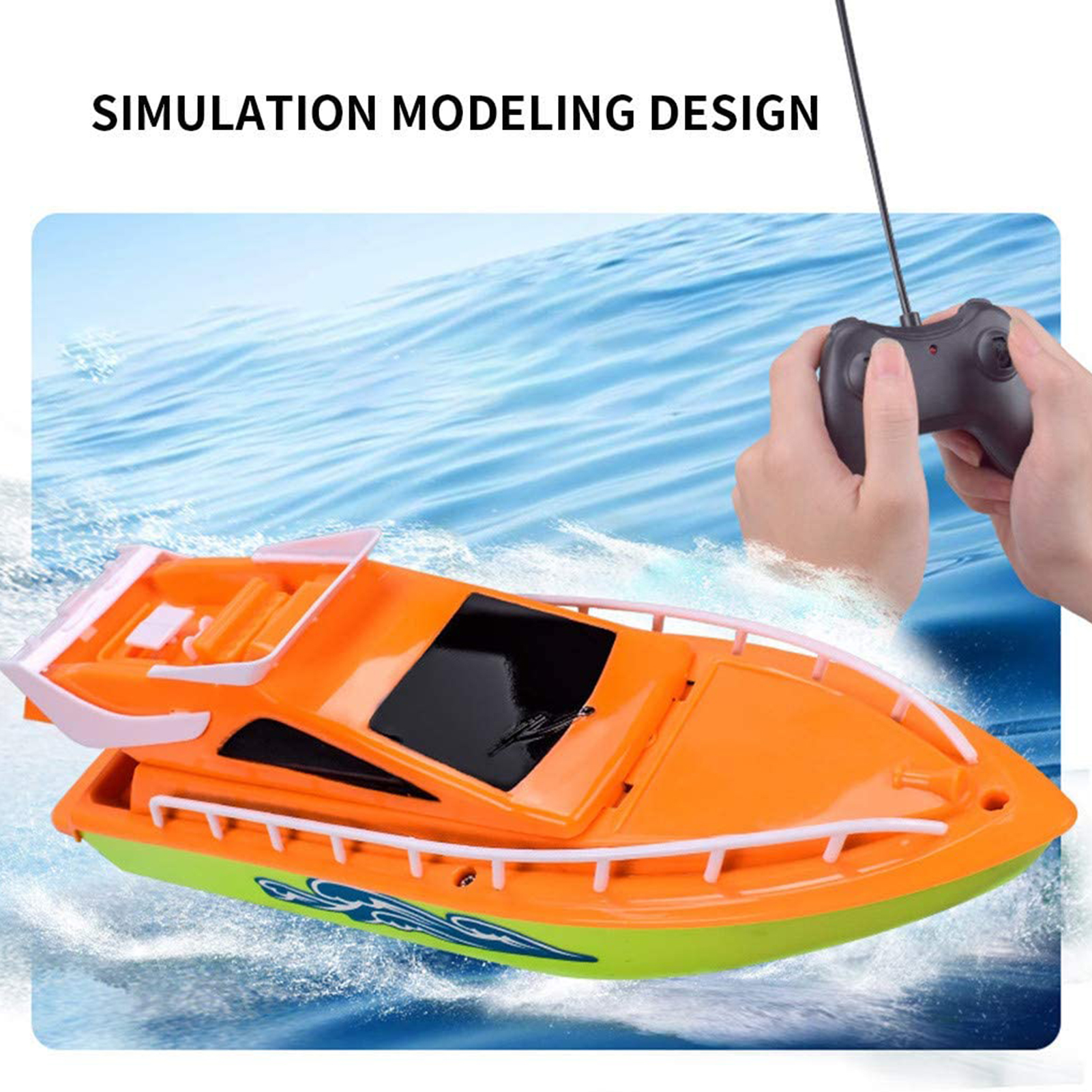 High Quality RC Boat High-speed Electric Children Remote Control Toy Simulation Model Toys Outdoor Racing Ship Adults Kids Gift