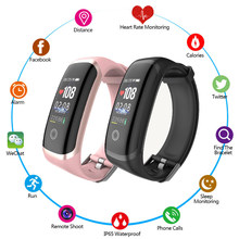 Smart Band Female Digital Watch Heart Rate Monitor Smart Bracelet Blood Pressure Clock Waterproof Wristband Men Women Watches(China)