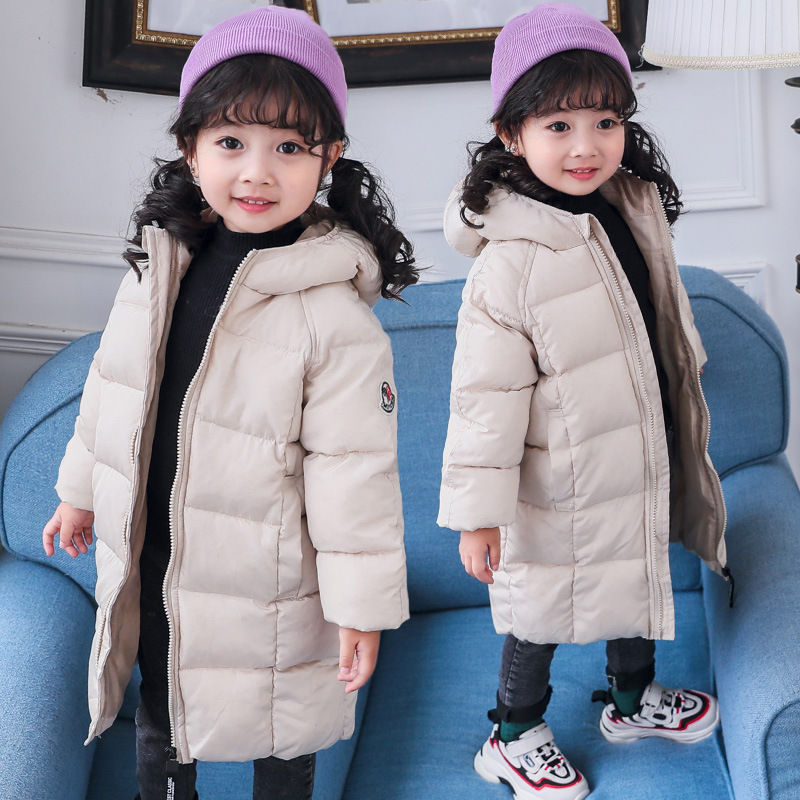 Boys Winter Jackets Parkas Hooded-Coats Toddler Girls Kids Children Outwear Warm-Down