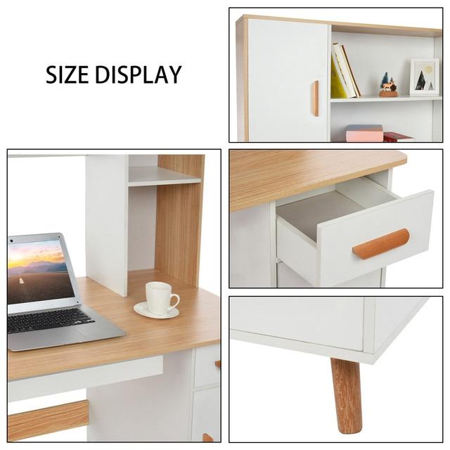 Computer Desk Bookcase Combination  3