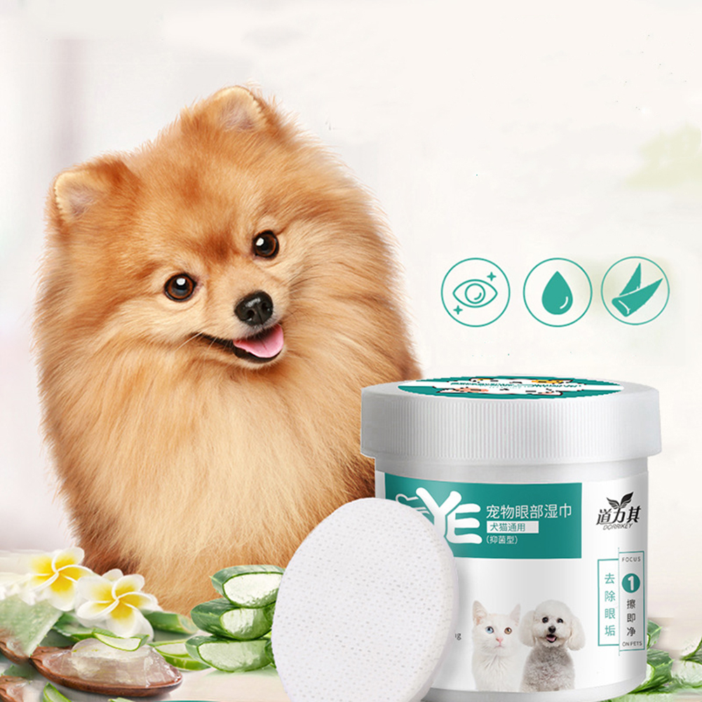 New 130PCS/Set Pet Eye Wet Wipes Dog Cat Pet Cleaning Wipes Grooming Tear Stain Remover Gentle Non-initiating Wipes Towel