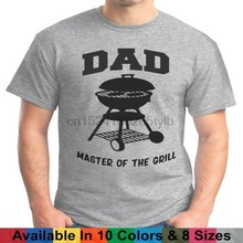 DAD Master Of The Grill Weber BBQ Bar B Que Fathers Day Gift Tee T Shirt(China)