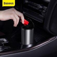 Baseus – poubelle de voiture en alliage, conteneur de stockage pour l'intérieur de l'automobile, cendrier, accessoires de voiture