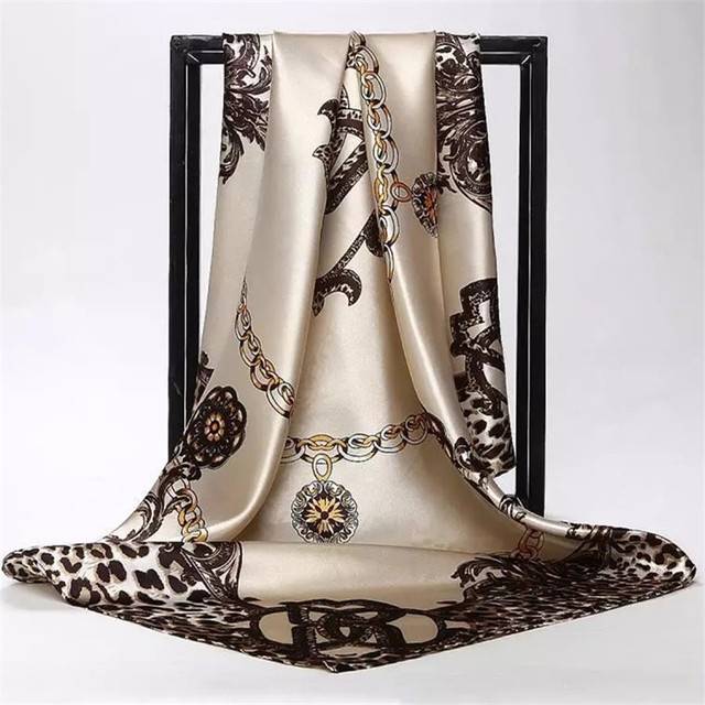 Silk Scarves Square Hijab Poncho 1