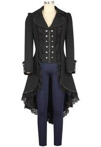 Image 3 - Medioevo Stile Punk A Vapore Femminile Pirati Costumi di Halloween Cosplay Gotico Vittoriano Medievale Camicia di Pizzo Donna Tuxedo