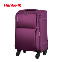 Hanke Expandable Soft Shell Luggage Suitcase Travel Trolley Case Mute Spinner Wheels TSA Lock Classic Design Waterproof 8039S(China)