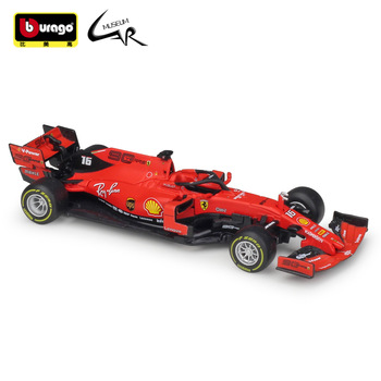 Bburago 1:43 F1 2019 Ferrar SF90 Formula One Racing Diecast Rally Scale Car Model Kit Display Collections Gift Toy image