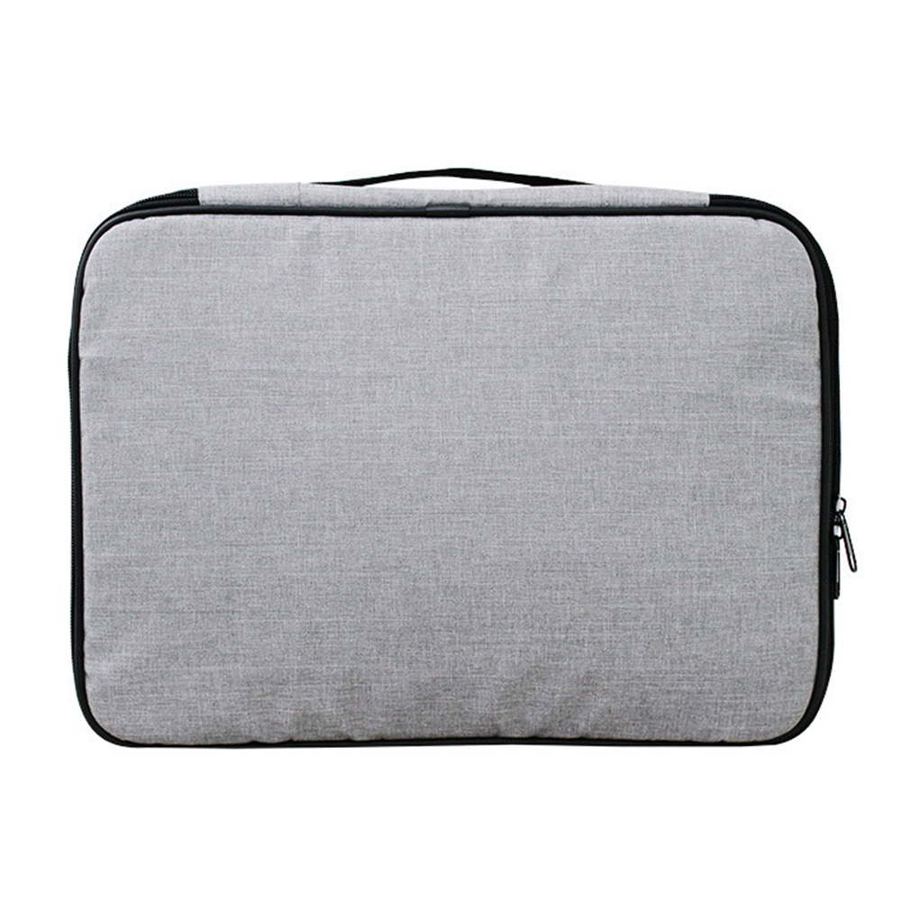 Card Pocket Travel Home Zipper Credentials Large Capacity With Lock File Organizer Papers Oxford Cloth Document Storage Bag
