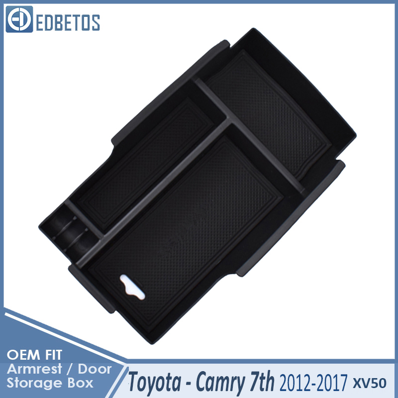 * Camry Car Armrest Box Center Console Storage Glove Box Organizer Insert Tray For Toyota Camry 2012 2013 2014 2015 2016 2017 3