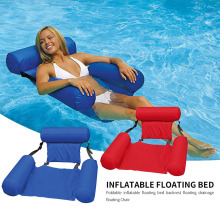 Water Hammock Recliner Swimming Pool Inflatable Mat Floating Bed Chair Foldable Summer Swimming Air Mattress Sleeping Cushion