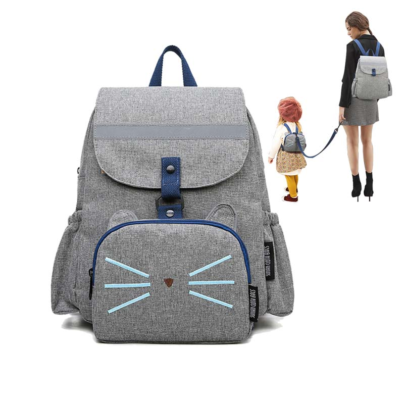 Backpack Travel bag  Diaper bag Nursing bag Reflective strip Parent child backpack Anti loss Backpack Baby accessories