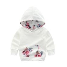 Дизайн; детская толстовка с капюшоном; зимняя детская рубашка для маленьких девочек; одежда для малышей; хлопковый пуловер с цветочным принтом; одежда; L5010918