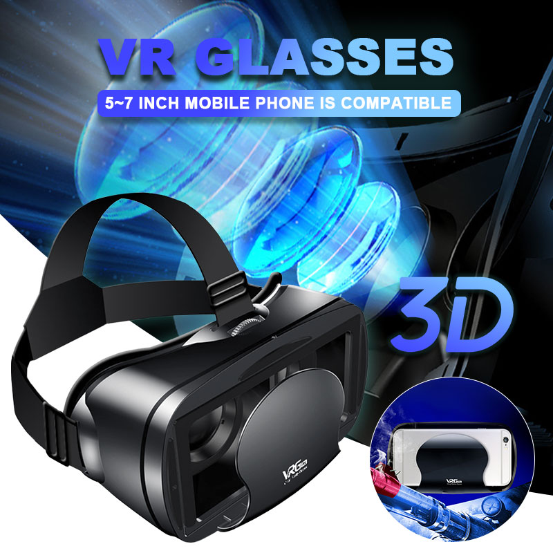 5~7inch VRG Pro 3D VR Glasses Virtual Reality Full Screen Visual Wide-Angle VR Glasses Box For 5 to 7 inch Smartphone Eyeglasses image