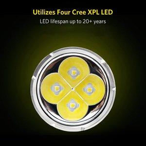 Image 3 - BLF Q8 4 x XPL 5000lm projecteur professionnel puissant, procédure de fonctionnement Multiple, lampe de poche LED, 18650
