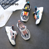 Wiosna dzieci sportowe trampki dziewczynek Chunky Sneakers chłopców marki buty do biegania dzieci prawdziwej skóry trampki trenerzy w Trampki od Matka i dzieci na