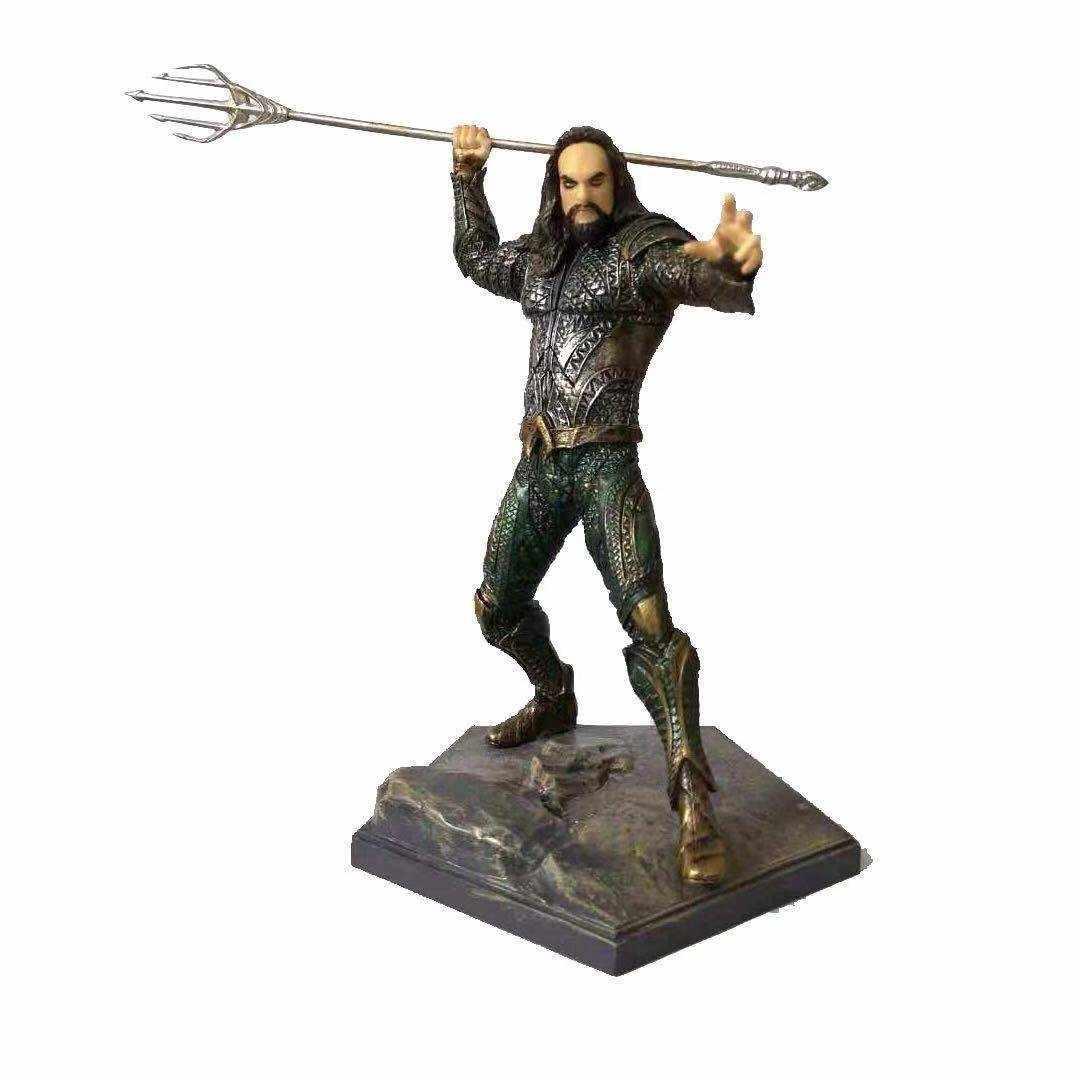19 CENTÍMETROS figuras de Aquaman DC Aquaman Figura PVC modelo Coleção figuras de Ação original para presente das crianças brinquedos 0.5