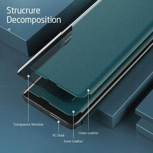 Image 4 - poko m 3 pro case smart side view window leather flip for xiaomi pocophone poco m3pro m3 pro 5g 2021 magnetic bracket book coque