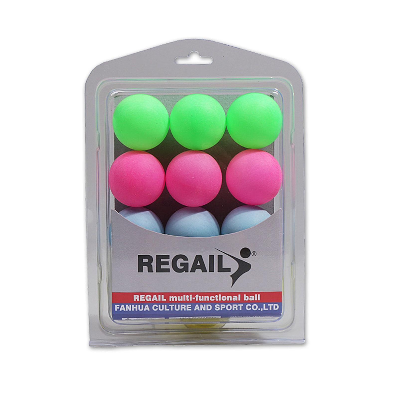 12PCS Boxed Table Tennis Colorful Plastic Entertain Ping Pong Balls Party Decoration Bounce Entertainment Balls