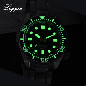 Image 5 - Lugyou San Martin ชายนาฬิกาอัตโนมัติ NH35 สแตนเลสสตีลหมุน BEZEL SLN C3 300M ทน
