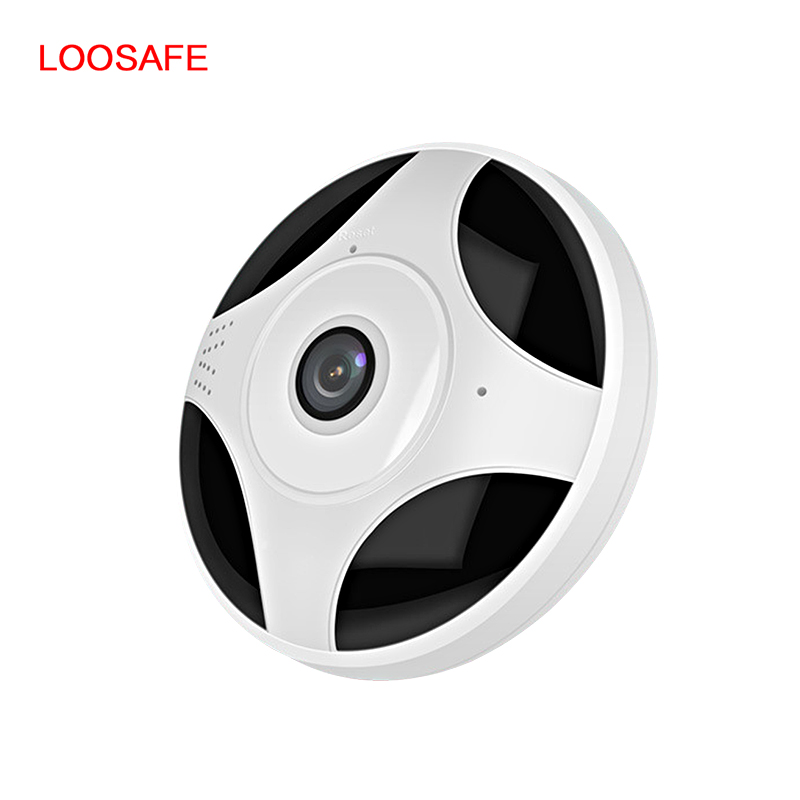Panoramic 1080P Smart Camera WIFI Camera ONVIF H 264 Infrared Night Version M otion Detection Dome Safety Baby Sleeping Monitors in Baby Sleeping Monitors from Mother Kids