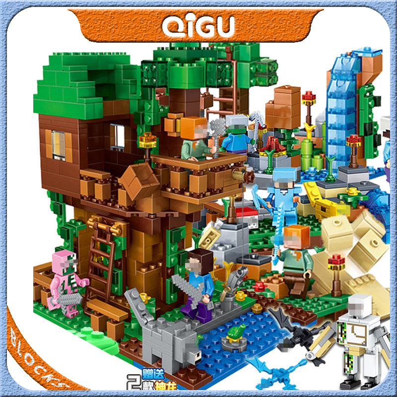 Compatible Playmobil Mountain Cave Light My Worlds Village Warhorse City Tree House With Elevator Bricks Toys