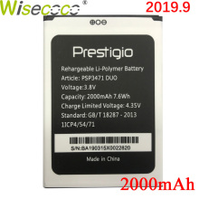 Wisecoco PSP3471 DUO Battery For Prestigio Wize Q3 DUO PSP3471 Phone Battery Replacement + Tracking Number цена и фото