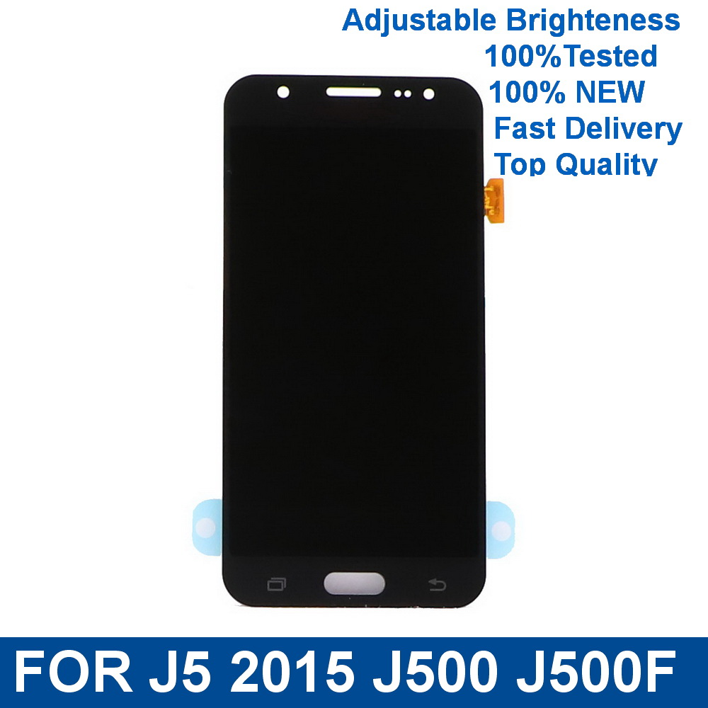For Samsung Galaxy J5 2015 J500 <font><b>J500F</b></font> J500FN J500M Phone <font><b>LCD</b></font> Display Touch Screen Digitizer Assembly with Brightness Control image
