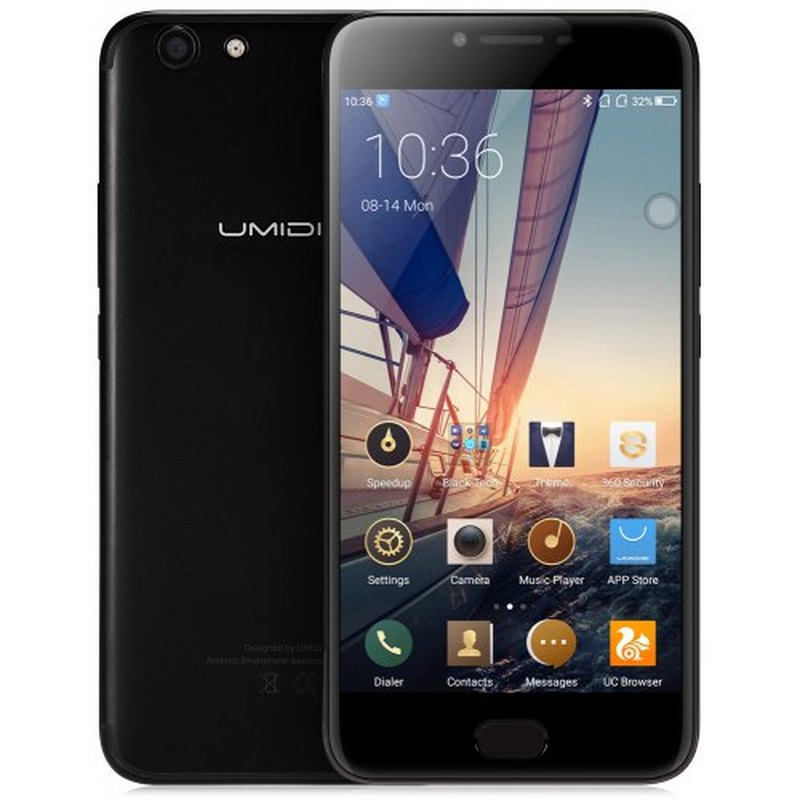 "UMIDIGI C NOTE 2 Smartphone 4GB RAM 64GB ROM 5.5"" Android 7.0 MTK6750T Octa Core 1.5GHz 4000mah Fingerprint 13.0MP Mobile Phone"