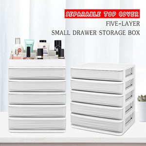 5 Layer Plastic Storage Drawer Colorful Desk Storage Drawer Box Organizer Sundries Cosmetics Makeup Container Home Office