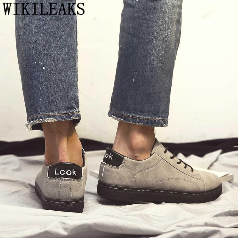 Zapatos de cuero de los hombres zapatos de moda 2019 diseñador de los hombres zapatillas de deporte para los hombres zapatos deportivos para Hombre Zapatos masculinos casuais couro туфли