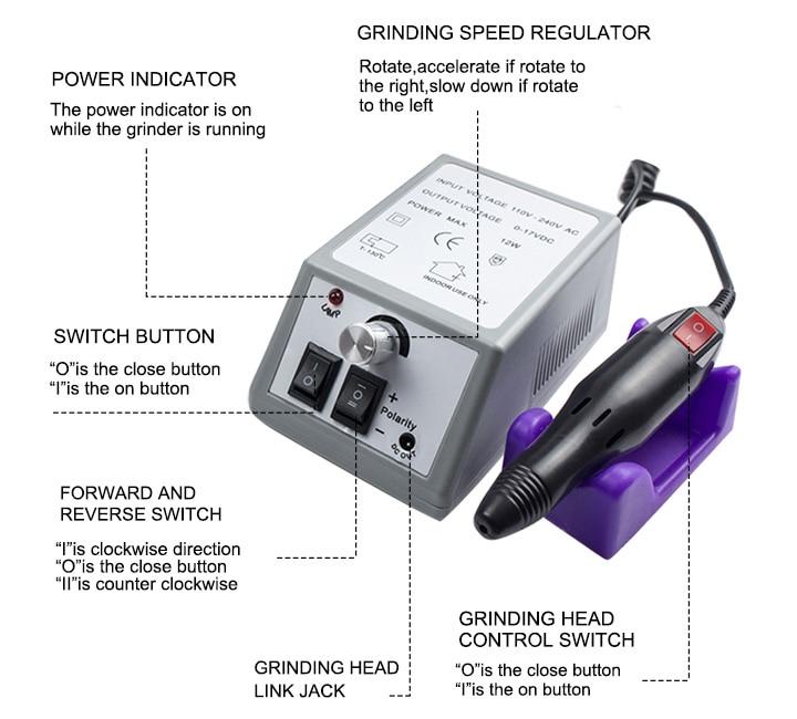 Brocas elétricas p/ manicure e acessórios