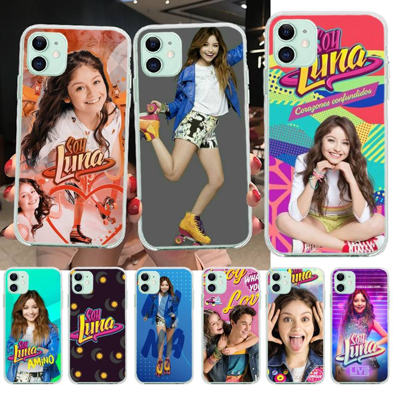 PENGHUWAN Soy Luna Sart Coque Black TPU Soft Rubber Phone Cover for iPhone 11 pro XS
