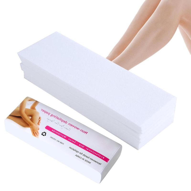 80pcs Professional Women Hair Removal Remove Epilator Paper Waxing Depilatory Strip Beauty Tool For Leg Hairs Removal