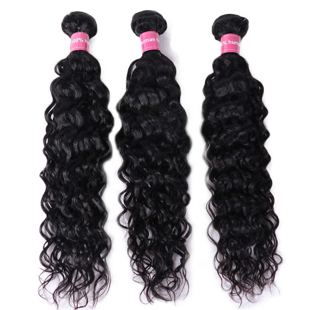 MSTOXIC Brazilian Water Wave Bundles 8-30Inch Human Hair Bundles Natural Color Remy Hair Weave Extensions Free Shipping