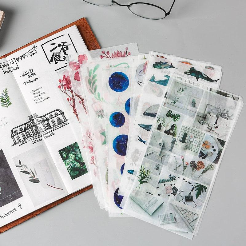 Kawaii Unicorn Stickers Cute Cat Plant Stickers Stationery Decor Stickers For Kids Girls DIY Diary Scrapbooking