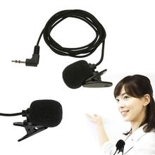 Portable Mini Clip-on Lapel Microphone Hands-free 3.5mm Condenser Wired Microphone For PC Laptop Lound Speaker high quality special black hands free clip on 3 5mm mini studio speech microphone