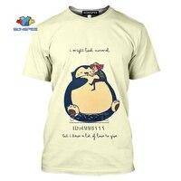 SONSPEE Cartoon Pokemon Snorlax T-shirt 3D Print Men Women Tshirt Casual Summer Short Sleeve Fashion Oversized Shirts Streetwear 6