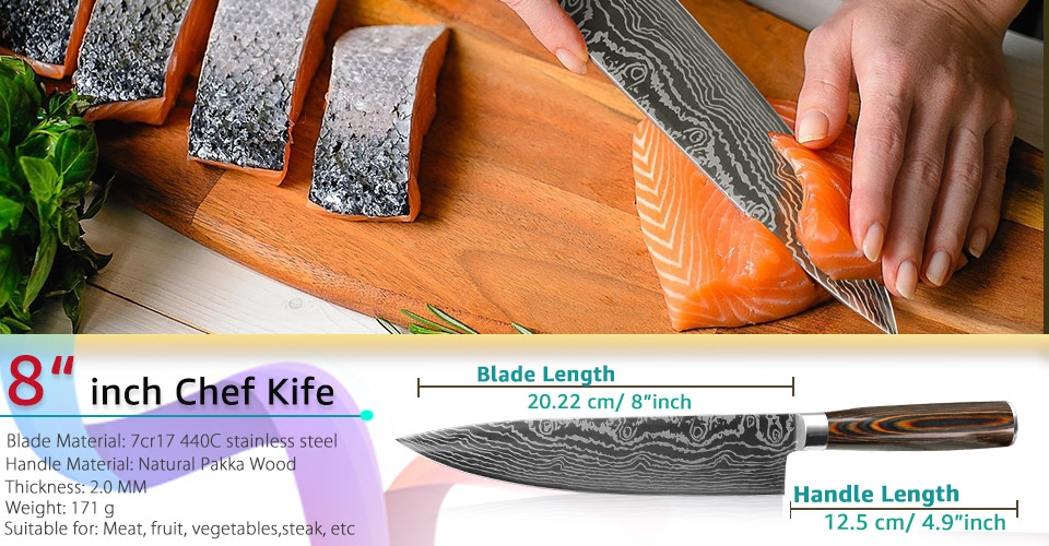 5 Pieces High Carbon Steel Knife Set