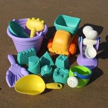 22 pçs/set brinquedos de praia do bebê sandbox brinquedos para crianças sandpit areia moldes areia castelo de areia ferramenta carrinho pás patos balde brinquedo ao ar livre