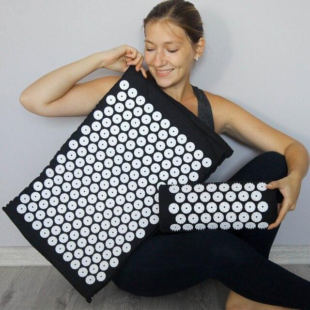 Acupuncture Cushion Massager Back Body Foot Massage Mat Pillow Set Relieve Stress Pain Acupuntura Yoga Mat Massage Pad Shakti 5