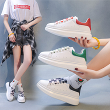Classics Women White Sneakers 2019 Autumn New Colored Lace Skateboard Shoes Student Casual Sports