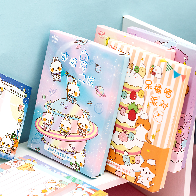 10sets/lot Memo Pads Sticky Notes cartoon Rabbit Paper diary Scrapbooking Stickers Office School stationery Notepad
