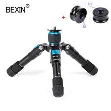 Bexin câmera de viagem smartphone titular fotografia do telefone pequeno tripé mini tripé com bola cabeça para o telefone inteligente dslr câmera