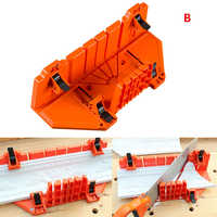 Adjustable Wood Cutting Clamping Miter Saw Box Woodworking Back Saw 0/22.5/45/90 Degree Clamping Mitre Box Cabinet Case AA