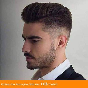 BYMC Mens Toupee Malaysia Virgin Human cabelo Soft Natural Blonde homem Toupee Fine Mono Top With PU Skin Lace Front On Rite bymc mens toupee super soft thin skin men s toupee 100